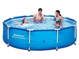 3in1 Set Steel Pro Frame Pool 305 x 76 cm mit Filterpumpe 1249 Liter/Stunde Bestway 56406 -