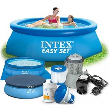 7in1 Set Gartenpool 244 x 76 cm Quick Up Pool mit Zubehör INTEX 28110 -