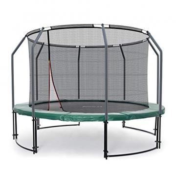 Ampel 24 Deluxe Outdoor Trampolin 305 cm grün komplett mit innenliegendem Netz, Belastbarkeit 150 kg, Sicherheitsnetz mit Stabilitätsring - 1