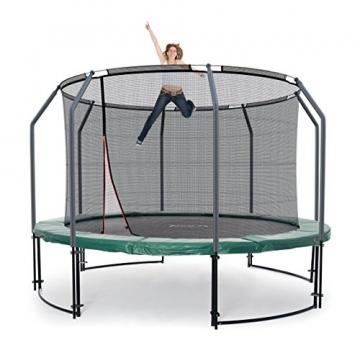 Ampel 24 Deluxe Outdoor Trampolin 305 cm grün komplett mit innenliegendem Netz, Belastbarkeit 150 kg, Sicherheitsnetz mit Stabilitätsring - 7