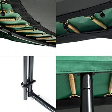 Ampel 24 Deluxe Outdoor Trampolin 366 cm komplett mit Außennetz, Belastbarkeit 160 kg, Sicherheitsnetz mit 8 gepolsterten Stangen und Stabilitätsring - 3