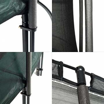 Ampel 24 Deluxe Outdoor Trampolin 366 cm komplett mit Außennetz, Belastbarkeit 160 kg, Sicherheitsnetz mit 8 gepolsterten Stangen und Stabilitätsring - 5
