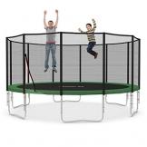 Ampel 24 XXL Trampolin Ø 490 cm grün | Gartentrampolin Komplettset mit verstärktem Netz | belastbar bis 180 kg -