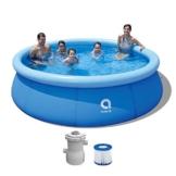 AVENLI Family Promptpool mit Filter-Pumpe, Aufstellpool, Quick-up, Gartenpool, 300x76cm, Schwimmbad Kinder und Familien, Schwimmbecken für Garten, mit Zubehör - 1