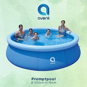 AVENLI Family Promptpool mit Filter-Pumpe, Aufstellpool, Quick-up, Gartenpool, 300x76cm, Schwimmbad Kinder und Familien, Schwimmbecken für Garten, mit Zubehör - 2