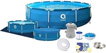 Avenli Pool - 366x76 cm - komplett mit Filter, Pumpe und Deckel - Blau - 1