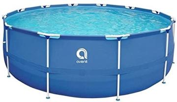 Avenli Pool - 366x76 cm - komplett mit Filter, Pumpe und Deckel - Blau - 3