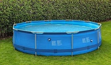 Avenli Pool - 366x76 cm - komplett mit Filter, Pumpe und Deckel - Blau - 6