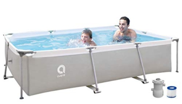 Avenli Rechteckiger Pool mit Struktur, Grau - 1