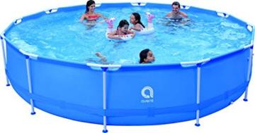 Avenli Runder Pool mit Struktur, Hellblau - 1