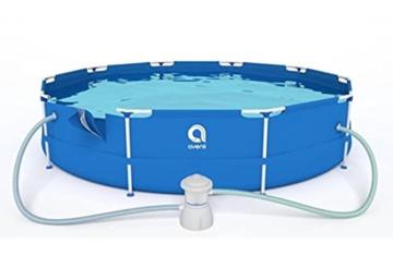 Avenli Schwimmbad - 305x76 cm - komplett mit Filter & Pumpe - mit Abdeckung - blau - 3