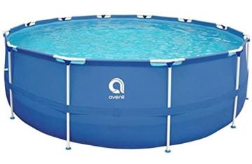 Avenli Schwimmbad - 305x76 cm - komplett mit Filter & Pumpe - mit Abdeckung - blau - 4