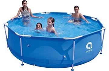 Avenli Schwimmbad - 305x76 cm - komplett mit Filter & Pumpe - mit Abdeckung - blau - 5