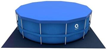 Avenli Schwimmbad - 305x76 cm - komplett mit Filter & Pumpe - mit Abdeckung - blau - 8