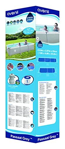 Avenli SteelSuper Stahlramen Aufstellpool Rechteckig 300 x 207 x 65 cm Frame Pool Rectangular Schwimmbecken Gartenpool ohne Pumpe - 4