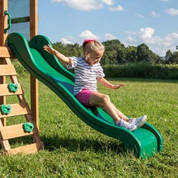 Backyard Discovery Spielturm Buckley Hill aus Holz | XXL Spielhaus für Kinder mit Rutsche, Schaukel und Kletterleiter | Stelzenhaus für den Garten - 4