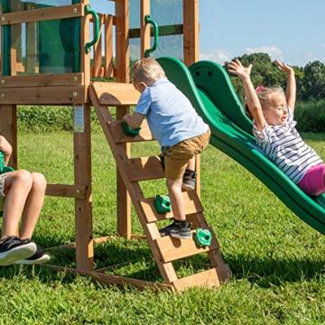 Backyard Discovery Spielturm Buckley Hill aus Holz | XXL Spielhaus für Kinder mit Rutsche, Schaukel und Kletterleiter | Stelzenhaus für den Garten - 7