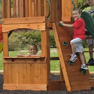 Backyard Discovery Spielturm Holz Atlantic   Stelzenhaus für Kinder mit Rutsche, Schaukel, Kletterwand   XXL Spielhaus / Kletterturm für den Garten - 6