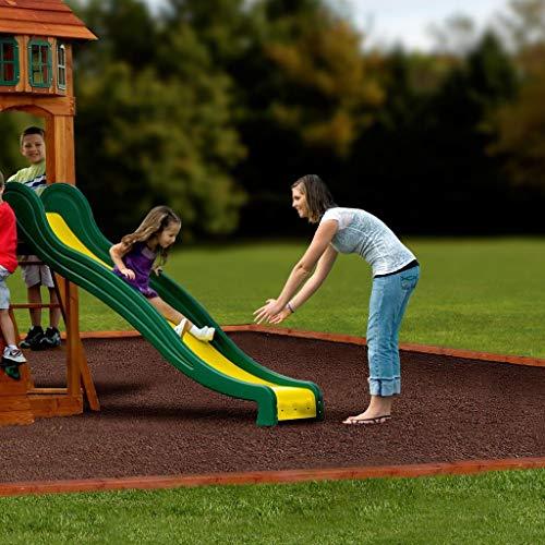 Backyard Discovery Spielturm Holz Atlantic | Stelzenhaus für Kinder mit Rutsche, Schaukel, Kletterwand | XXL Spielhaus / Kletterturm für den Garten - 7