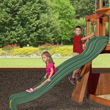 Backyard Discovery Spielturm Holz Atlantic   Stelzenhaus für Kinder mit Rutsche, Schaukel, Kletterwand   XXL Spielhaus / Kletterturm für den Garten - 8