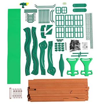 Backyard Discovery Spielturm Holz Atlantic   Stelzenhaus für Kinder mit Rutsche, Schaukel, Kletterwand   XXL Spielhaus / Kletterturm für den Garten - 9