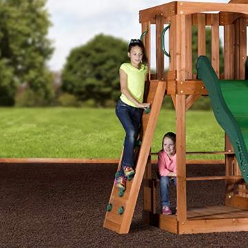 Backyard Discovery Spielturm Holz Hillcrest | XXL Spielhaus für Kinder mit Rutsche, Sandkasten, Schaukel, Kletterwand und Picknicktisch | Stelzenhaus für den Garten - 8