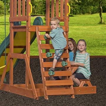 Backyard Discovery Spielturm Holz Sunnydale | Spielplatz für Kinder mit Rutsche, Sandkasten, Schaukel und Picknicktisch | Schaukelset für den Garten - 8