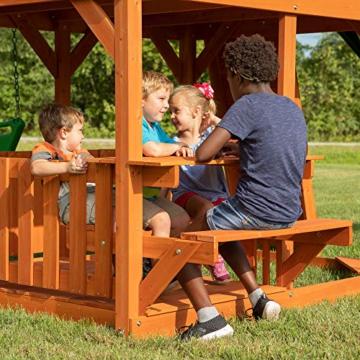 Backyard Discovery Spielturm Skyfort II aus Holz   XXL Spielhaus für Kinder mit Rutsche, Schaukel, Kletterwand und Aussichtsturm   Stelzenhaus für den Garten - 6