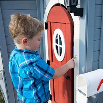 Beauty.Scouts Holzspielhaus Cooper mit viel Spielzubehör 279,4x170,2x221cm aus Zedernholz in grau Kinder Spielhaus Kinderspielhaus Gartenhaus Schwedenhaus Stil - 8