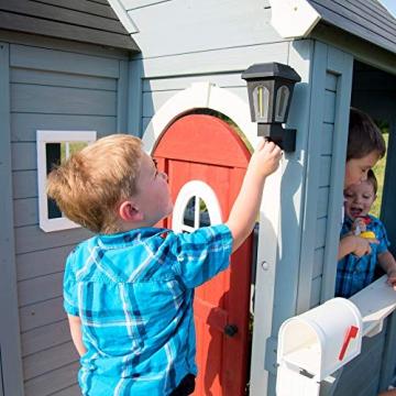 Beauty.Scouts Holzspielhaus Cooper mit viel Spielzubehör 279,4x170,2x221cm aus Zedernholz in grau Kinder Spielhaus Kinderspielhaus Gartenhaus Schwedenhaus Stil - 9