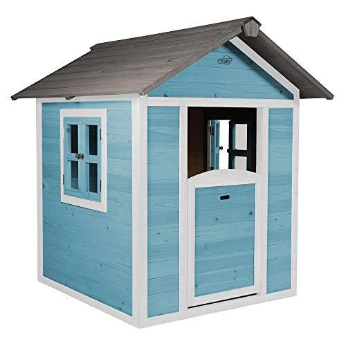 Beauty.Scouts Holzspielhaus Sun 102x94x133cm aus Zedernholz in blau-weiß Kinder Spielhaus Kinderspielhaus modern Spitzdach Schwedenhaus Stil gemütlich - 1