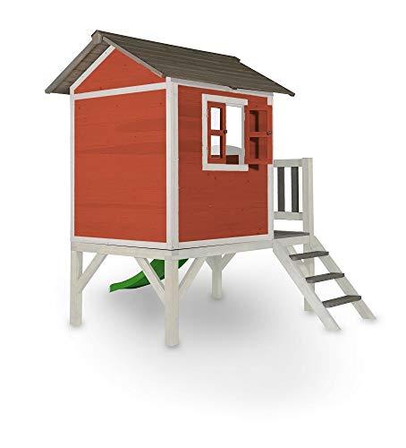 Beauty.Scouts Holzspielhaus Sun XL mit Leiter + Rutsche 168x261x189cm aus Holz in rot-weiß Kinder Kinderspielhaus Holzhaus Stelzenhaus Liebe zum Detail - 2