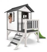 Beauty.Scouts Holzspielhaus Sun XL mit Leiter + Rutsche 168x261x189cm aus Holz in grau-weiß Kinder Kinderspielhaus Holzhaus Stelzenhaus Liebe zum Detail - 1