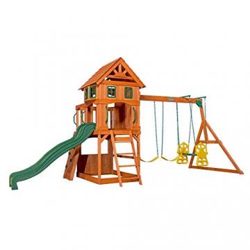 Beauty.Scouts Holzspielhaus Tasso inkl. Leiter + Rutsche + Sandkasten + Schaukel 236,2x551,2x284,5cm Kinderspielhaus Holzhaus Stelzenhaus groß Spielplatz - 2