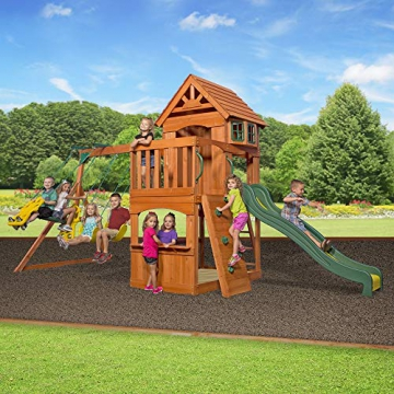 Beauty.Scouts Holzspielhaus Tasso inkl. Leiter + Rutsche + Sandkasten + Schaukel 236,2x551,2x284,5cm Kinderspielhaus Holzhaus Stelzenhaus groß Spielplatz - 4