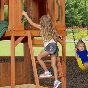 Beauty.Scouts Holzspielhaus Tasso inkl. Leiter + Rutsche + Sandkasten + Schaukel 236,2x551,2x284,5cm Kinderspielhaus Holzhaus Stelzenhaus groß Spielplatz - 9