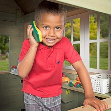 Beauty.Scouts Holzspielhaus Vala mit Spielzubehör 188x165,1x170,2cm aus Zedernholz in grün Kinder Spielhaus Kinderspielhaus Ranch Stil Gartenhaus - 6
