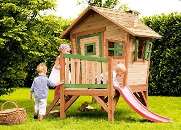 Beauty.Scouts Holzspielhaus Vetle mit Veranda Leiter Rutsche 177x264x203cm Zedernholz in braun Kinder Spielhaus Kinderspielhaus Gartenhaus Holzhaus Stelzenhaus - 2