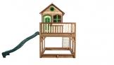 Beauty.Scouts Holzspielhaus Vinny mit Veranda + Rutsche + Leiter + Sandkasten 255x377x291cm aus Zedernholz in braun Spielhaus Kinderspielhaus Holzhaus Stelzenhaus - 1