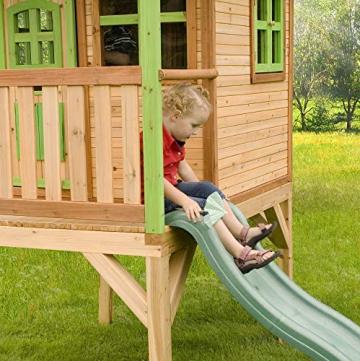 Beauty.Scouts Holzspielhaus Wencke mit Veranda + Rutsche + Leiter 172x272x318cm aus Zedernholz in braun Spielhaus Kinderspielhaus Gartenhaus Holzhaus Stelzenhaus - 5