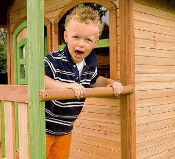 Beauty.Scouts Holzspielhaus Wencke mit Veranda + Rutsche + Leiter 172x272x318cm aus Zedernholz in braun Spielhaus Kinderspielhaus Gartenhaus Holzhaus Stelzenhaus - 6