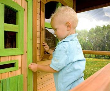Beauty.Scouts Holzspielhaus Wencke mit Veranda + Rutsche + Leiter 172x272x318cm aus Zedernholz in braun Spielhaus Kinderspielhaus Gartenhaus Holzhaus Stelzenhaus - 7