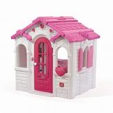 Beauty.Scouts Kinderspielhaus Lucy aus Kunststoff 134,6x119,4x147,3cm rosa Kunststoffspielhaus Spielhaus Gartenhaus Kinder Spiel Haus Outdoor Klingel Postfach - 1