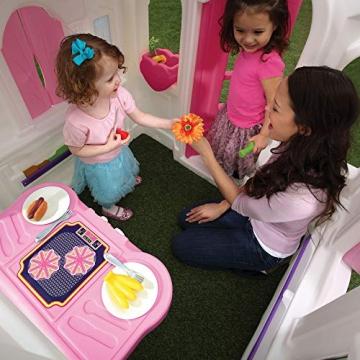 Beauty.Scouts Kinderspielhaus Lucy aus Kunststoff 134,6x119,4x147,3cm rosa Kunststoffspielhaus Spielhaus Gartenhaus Kinder Spiel Haus Outdoor Klingel Postfach - 5