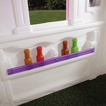Beauty.Scouts Kinderspielhaus Lucy aus Kunststoff 134,6x119,4x147,3cm rosa Kunststoffspielhaus Spielhaus Gartenhaus Kinder Spiel Haus Outdoor Klingel Postfach - 6