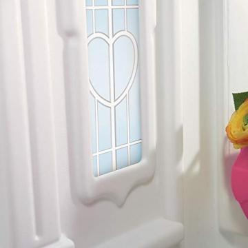 Beauty.Scouts Kinderspielhaus Lucy aus Kunststoff 134,6x119,4x147,3cm rosa Kunststoffspielhaus Spielhaus Gartenhaus Kinder Spiel Haus Outdoor Klingel Postfach - 7