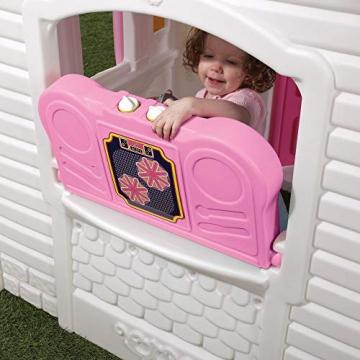 Beauty.Scouts Kinderspielhaus Lucy aus Kunststoff 134,6x119,4x147,3cm rosa Kunststoffspielhaus Spielhaus Gartenhaus Kinder Spiel Haus Outdoor Klingel Postfach - 9