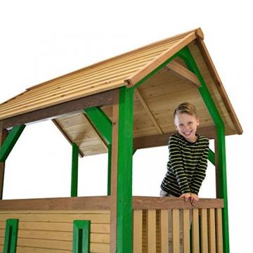 Beauty.Scouts Spielhaus Sevilla IV 191x370x291cm Holz braun-grün Rutsche grün Sandkasten Kinderspielhaus Spielhaus Holzhaus Kinderhaus Gartenhaus Spielen Garten - 3