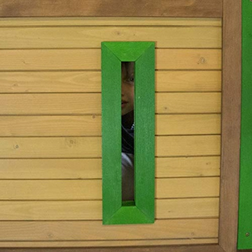Beauty.Scouts Spielhaus Sevilla IV 191x370x291cm Holz braun-grün Rutsche grün Sandkasten Kinderspielhaus Spielhaus Holzhaus Kinderhaus Gartenhaus Spielen Garten - 7