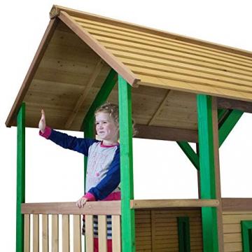 Beauty.Scouts Spielhaus Sevilla IV 191x370x291cm Holz braun-grün Rutsche grün Sandkasten Kinderspielhaus Spielhaus Holzhaus Kinderhaus Gartenhaus Spielen Garten - 8